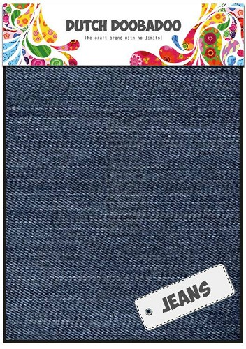 Dutch Doobadoo - Dutch Fabric Art - Jeans Medium