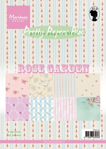 Marianne Design - Pretty Papers Bloc - Rose Garden