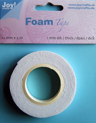 Joy!Crafts - Foam Tape - Wit 12mmx2m 1mm dik