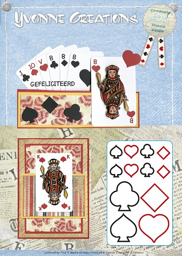 Yvonne Creations - Die - Men - Playing cards