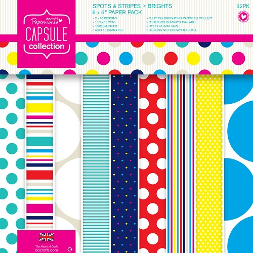DoCrafts -  Paper pack - Capsule - Spots & Stripes Summer Brights