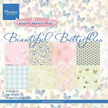 Marianne Design - Pretty Papers Bloc - Beautiful Butterflies
