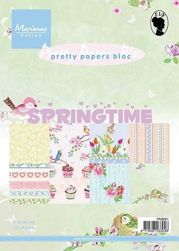 Marianne Design - Pretty Papers Bloc - Springtime