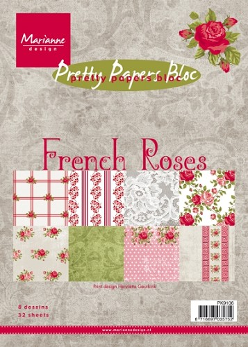 Marianne Design - Pretty Papers Bloc - French Roses