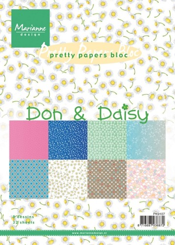 Marianne Design - Pretty Papers Bloc - Don & Daisy