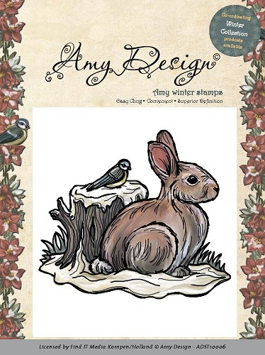 Amy Design - Clingstamp - Snow Rabbit