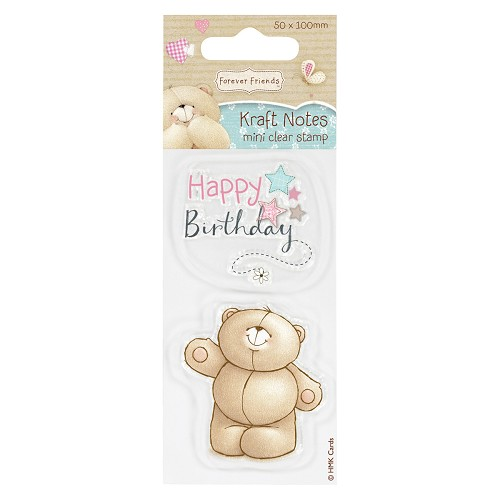 DoCrafts - Mini Clear Stamp - Kraft Notes - Happy Birthday