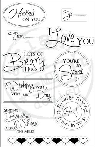 Marianne Design - Clearstamp - Sentiments