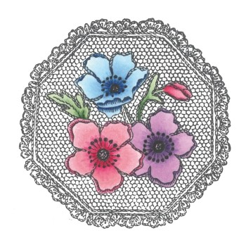 Marianne Design - Cling stamp - Anemones