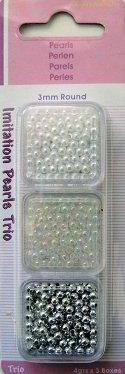 Hobby & Crafting Fun - Kralen - Pearls wit-transparant-zilver