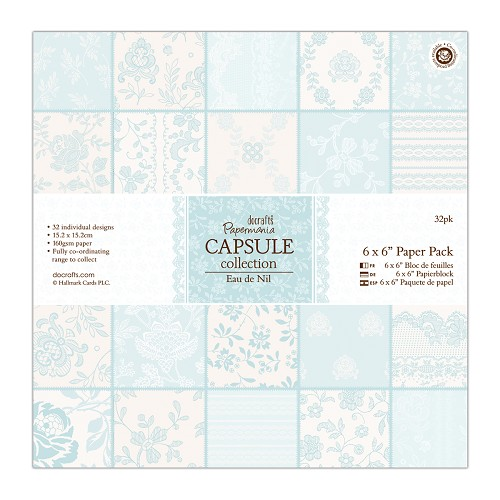 6 x 6 Paper Pack (32pk) - Capsule Collection - Eau De Nil