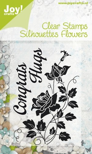 Joy!Crafts - Clear Stamps - Silhouettes Flowers Congrats Hugs