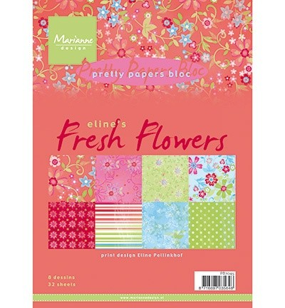 Marianne Design - Pretty Papers Bloc - Elines Fresh Flowers