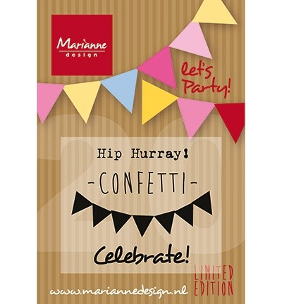 Marianne Design - Clearstamp - Lets Party!