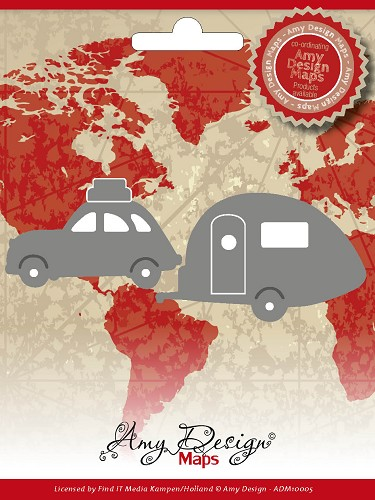 Amy Design - Die - Maps - Car with caravan
