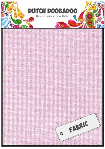 Dutch Doobadoo - Dutch Fabric Art - Pink Check