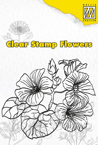 Clear stamps flowers hibiscus