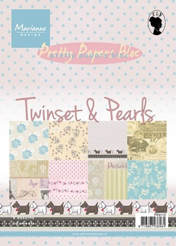 Marianne Design - Pretty Papers Bloc - Twinset & Pearls