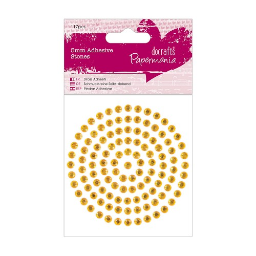 5mm Adhesive Stones (117pcs) - Gold