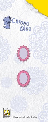 Small set 2 star-flower oval frames