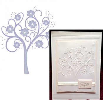 Couture Creations - Embossing Swirl Tree