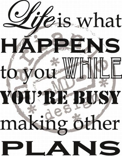 Marianne Design - Clearstamp - Life Is What Happens