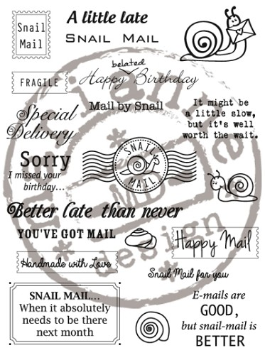 Marianne Design - Clearstamp - Snail Mail