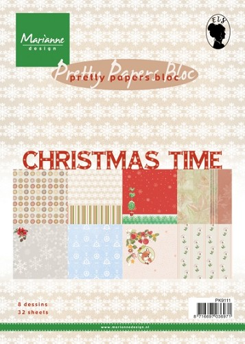 Marianne Design - Pretty Papers Bloc - Christmas Time