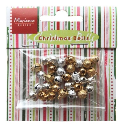 Marianne Design Card Decorations Bells Silver-Gold