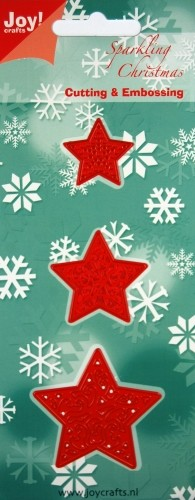 Joy!Crafts -Cutting & Embossing - 3 Kerststerren