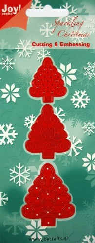 Joy!Crafts - Cutting & Embossing - 3 Kerstbomen