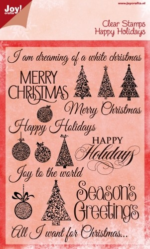 Joy!Crafts - Clear Stamps - Merry Christmas