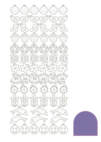 Charm sticker - Mirror Purple