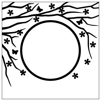 Embossing Folder 130x130mm Spring is in the air round