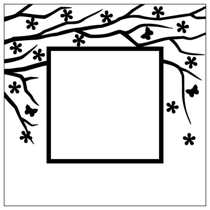 Embossing Folder 130x130mm Spring is in the air square