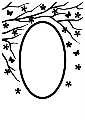 Embossing Folder 106x150mm Spring is in the air oval