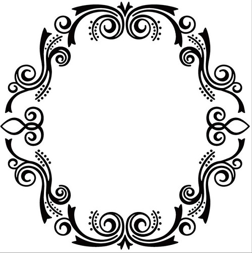 Embossing Folder 130x130mm, oval frame-2