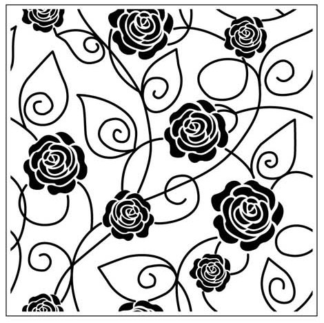 Crafts-Too - Embossing Folder - Roses