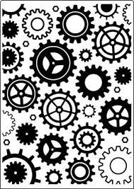 Crafts-Too - Embossing Folder - Geared