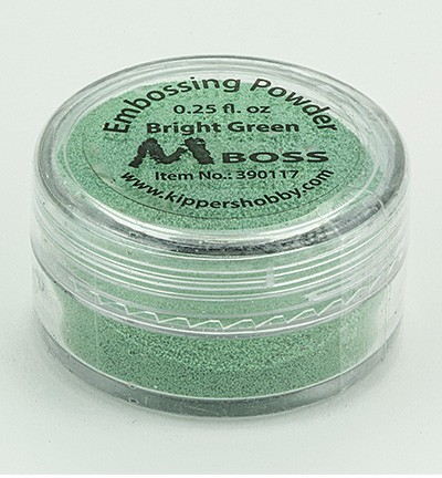 Kippershobby - Mboss Embossing poeder - Bright Green