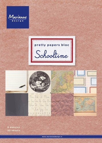 Marianne Design - Pretty Papers Bloc - Schooltime