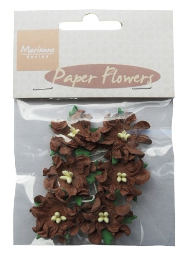 Marianne Design Paper Flowers Dark Brown