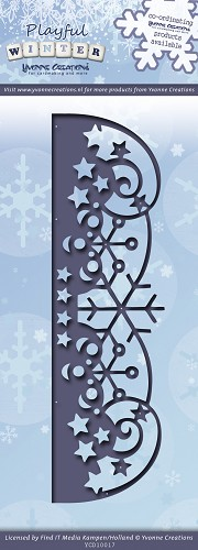 Yvonne Creations - Die - Playful Winter - Snowflakes border