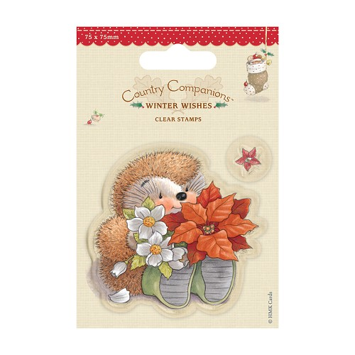 DoCrafts - Mini Clear Stamps - Winter Wishes - Poinsettia
