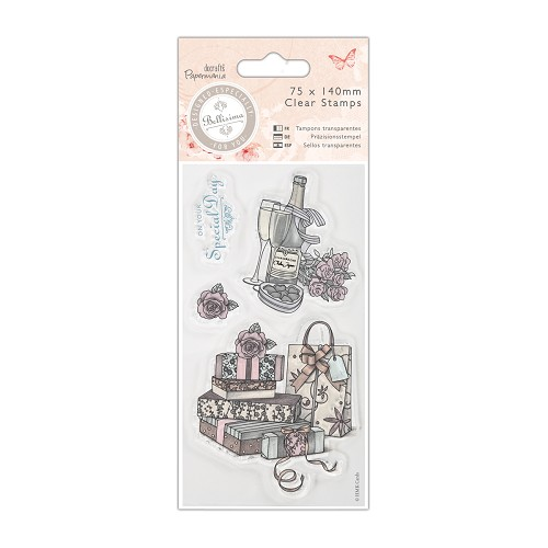 DoCrafts - Mini Clear Stamp - Bellisima - Celebrate
