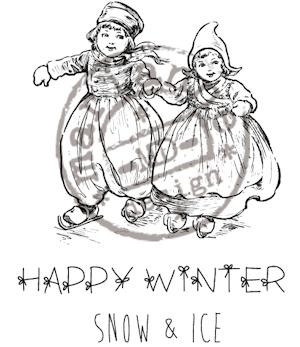Marianne Design - Cling stamp - Artic Winter - Happy Winter