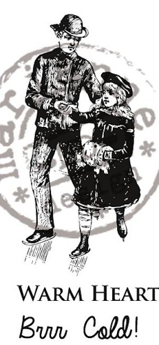 Marianne Design - Cling stamp - Artic Winter - Warm Heart