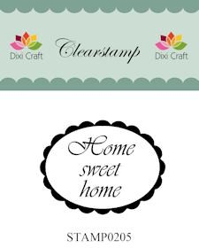 Dixi Craft - Clearstamp - Home sweet home