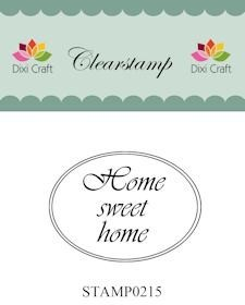 Dixi Craft - Clearstamp - Made in Holland - Ovaal