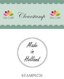 Dixi Craft - Clearstamp - Made in Holland - Rond
